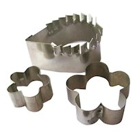 Dollhouse Cookie Cutters - Vintage Doll House Kitchen Accessories