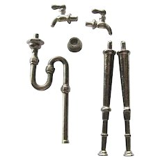 Hardware for Miniature Sink Dollhouse Wall Mounted Sink - Dollhouse Accessories