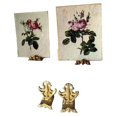 Two Miniature Table Easels or Artwork Stands For Dollhouse Miniatures - Doll House Table Stand