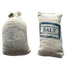 Dollhouse Flour and Salt Sacks Miniature Farm Miniature Grocery Store  Dollhouse Accessories