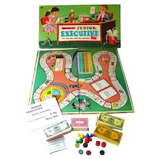 Junior Executive Board Game by Whitman Publishing 50s Money Game Vintage Game Board Game Night Game Room Decor Gift for Kids Buy/Sell Game