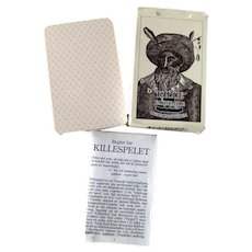 KILLESPELET Sweedish Card Game circa 1800s Reproduction, Deck of Cards In Original Box, Collectible Cards, Game Night, Foreign Language Game
