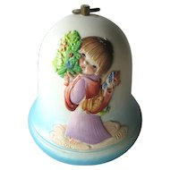 Ferrandiz Christmas Angel Music Box Bell You Light Up My Life / Swiss Music Box / Holiday Home Decor / Holiday Decoration / Christmas Gift