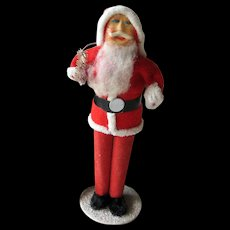 Paper Faced Vintage Standing Santa 1940s / Holiday Home Decor / Holiday Decoration / Holiday Doll