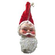 Santa Claus Pajama Bag 1950s Bijou Toy Company - Vintage Holiday Decor - Childs Holiday - Zipperd Bag - Holiday PJ Bag