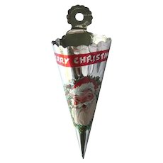 Foil Candy Cone Vintage Holiday Christmas Tree Decoration Aluminum Xmas Tree Decoration