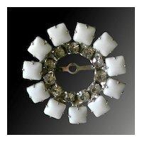 Simple Yet Elegant White Rhinestone Circle PIn