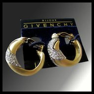 Dramatic Vintage Givenchy Bijoux Rhinestone Earrings