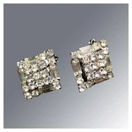 Rhinestone Earrings Great Vintage Wedding Jewelry or Party Fashion