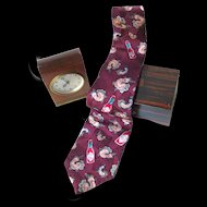 Tabasco and Shrimp Cajun Silk Necktie / Mens Fashion / Novelty Tie / Gift For Him