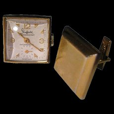 Sheffield Watch Cuff Links in Working Condition with Original Presentation Box - Mens Fashion - Mens Gift - Fathers Day Gift