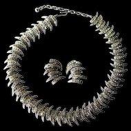 Rhinestone Runway Necklace and Earrings Set Signed Ora - Wedding Jewelry - Prom Jewelry - Costume Jewellery - ORA Jewelry - Jewelry Set