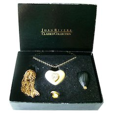 Joan Rivers Charm Necklace With Snap On Charms - Joan Rivers Signed Jewellery
