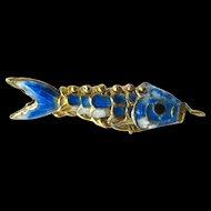 Articulated Fish Charm - Enamel Fish Charm - Koi Charm - Good Luck Charm