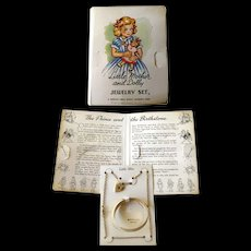 Little Mother And Dolly Jewelry Uncle Davids Childrens Story - Childrens Jewelry - September Birthstone - Childs Bracelet - Childs Necklace