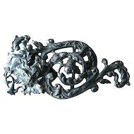 Scroll Work Buckle - Jewelry Supply - Purse Buckle