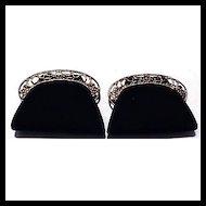 Vintage Black & Gold Shoe Clips
