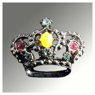 Rhinestone Crown Pin