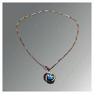 Pegasus Coro Turquoise Rhinestone Necklace