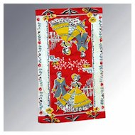 Vintage Southern Gone With The Wind Tea Towel Kitchen Accessory