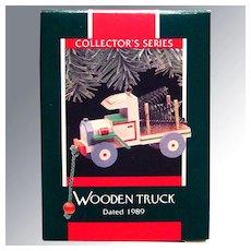 Hallmark Keepsake Ornament Wooden Truck Collector's Series