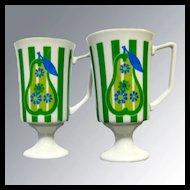 Vintage Mid Century Pear Mug Danish Modern