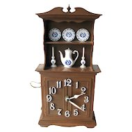 Spartus Kitchen Duncan Phyfe Style Hutch Clock / Vintage Home Decor / Wall Clock / Retro Kitchen