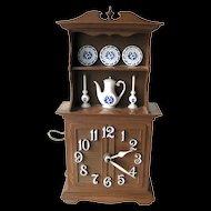 Spartus Kitchen Duncan Phyfe Style Hutch Clock / Vintage Home Decor / Wall Clock / Retro Kitchen
