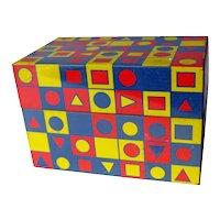 Syndicate Manufacturing MOD Recipe Box / Trinket Box / Op Art Box / Vintage Kitchenware / 1960s