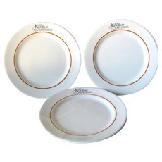 Milam Cafeterias Lunch Plate - Syracuse China - Vintage Dishware - Vintage Restaurantware - San Antonio Texas - Vintage Restaurant