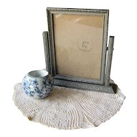 Wood Swing Table Picture Frame / Vintage Home Decor / Desk Accessory