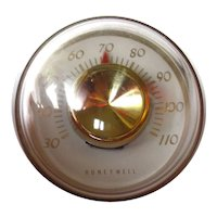 Retro Round Ball Desk Thermometer by Honeywell - Vintage Desk Accessory - Gift For Him