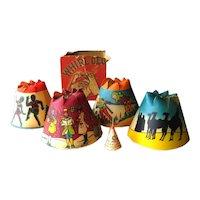Vintage Christmas Revolving Xmas Tree Light Shades Whirl-Glo Box No 1 - 4 Christmas Bulb Shades