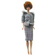 Bubblecut Barbie With Titian Hair 1962 by Mattel - Vintage Barbie Doll - Bubble Cut Barbie - Career Girl Outfit 954