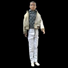 Molded Hair Ken Doll With Windbreaker and Lounging Around Outfit - Model 750 1962 to 1965