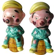 Hobo Novelty Salt and Pepper Shakers - Vintage Kitchenware - Collectible Shakers - Ceramic Shakers - Figural Shakers - Housewarming Gift