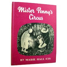 Mister Pennys Circus Vintage Childrens Book - Read Aloud Book - Storybook - Weekly Reader Book - Collectible Book