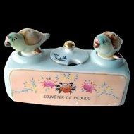 Mexico souvenir Nodder Shaker and Mustard Set - Bird Salt and Pepper Shakers - Housewarming Gift - Salt Shaker Set - Couples Gift