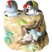 Vintage Nodder Shaker Set Parrots In a Tree - Figural Salt and Pepper Shakers - Housewarming Gift - Salt Shaker Set - Couples Gift
