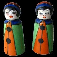 Clown Shaker Set In Original Box - Japan Clown Salt and Pepper Shakers - Housewarming Gift - Salt Shaker Set - Jester Shakers