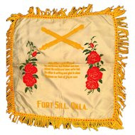 Army Field Artillery Military Pillow Cover Mother and Dad Poem - Pillow Sham - Military Gift - Vintage Pillow Cover - Decorative Pillow