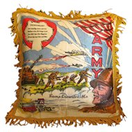 Sweetheart Army Pillow Cover - Military Gift - Vintage Home Decor - Sweetheart Poem Pillow Sham - Decorative Pillow Case - Camp Crowder