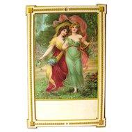 Vintage Wall Hanging Calendar Art - Salesmans Sample Art Print - Vintage Ephemera - Mothers Day Gift