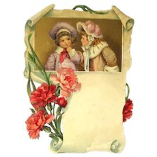 German Diecut Art Print  - Salesmans Sample Calendar Art - Gift Idea For Mom