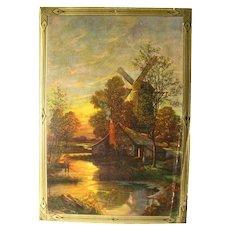 Vintage Ephemera Calendar Art Salesman Sample Art Print - Vintage Paper - Cottage Decor