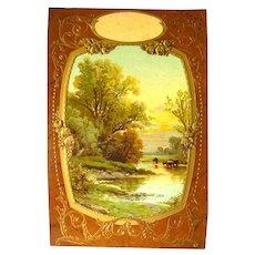 Scenic Wall Hanging Vintage Advertising Calendar Art - Vintage Ephemera - Calendar Art Print - French Print