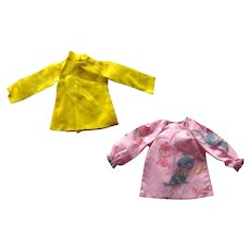18 Inch Doll Tunics For IDEAL Crissy Doll Two Shirts MOD Doll Clothes - Collectible Doll Clothing