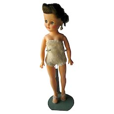 Jill Vogue Doll 10 Inch Vinyl Brunette Doll With Jointed Waist and Sleepy Eyes - Vogue Dolls - Ginny Dolls Big Sister