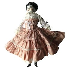 AGNES Pet Name China Head Doll 15 1/2 Inch Antique Doll by Hertwig & Co