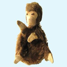 Schuco Mohair Monkey With Glass Eyes Very Rare 4 Finger Puppet